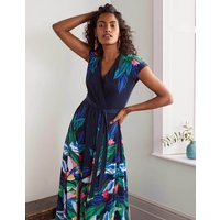 Eleanor Jersey Midi Dress Navy Women Boden, Navy