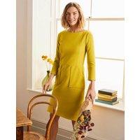 Auria Ottoman Dress Chartreuse Women Boden, Chartreuse