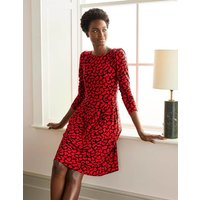 Francesca Jersey Dress Black and Red, Abstract Brush Women Boden, Black and Red, Abstract Brush