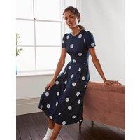 Lucinda Jersey Midi Dress Navy, Regular Dot Women Boden, Navy, Regular Dot