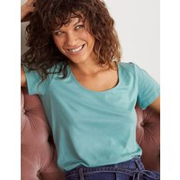 Supersoft Scoop Tee Green Women Boden, Green