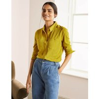 Authentic Jersey Shirt Chartreuse Women Boden, Chartreuse