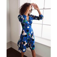 Edie Jersey Wrap Dress Blue Women Boden, Blue