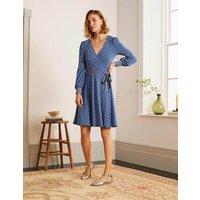 Edie Jersey Wrap Dress Asphalt, Nautical Knot Women Boden, Asphalt, Nautical Knot