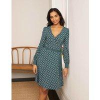 Edie Jersey Wrap Dress Palm Leaf, Nautical Knot Women Boden, Palm Leaf, Nautical Knot