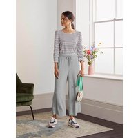 Emma Cropped Joggers Grey Marl Women Boden, Grey Marl