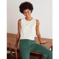 Favourite Cotton Knitted Tank Ivory Women Boden, Ivory