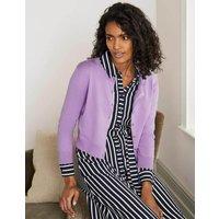 Eldon Cotton Crop Cardigan Purple Women Boden, Purple