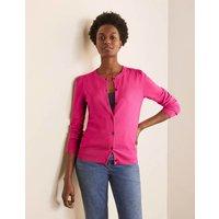Stowe Merino Cardigan Pink Flambe Women Boden, Pink Flambe