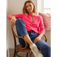 Cashmere Crew Cardigan Pink Sunset Women Boden, Pink Sunset