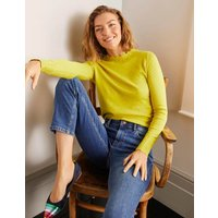 Hambleden Scallop Jumper Yellow Women Boden, Yellow
