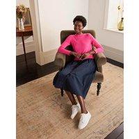 Radnor Woven Mix Dress Lollipop/Navy Women Boden, Lollipop/Navy