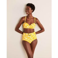 Kythira Cup-size Bikini Top Chartreuse, Painted Foliage Women Boden, Chartreuse, Painted Foliage