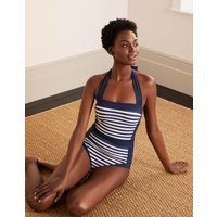 Santorini Swimsuit French Navy/Ivory Stripe Boden, French Navy/Ivory Stripe