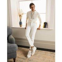 Slim Straight Jeans White Boden, White.