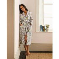 Janie Dressing Gown Ivory, Beautiful Garden Women Boden, Ivory, Beautiful Garden
