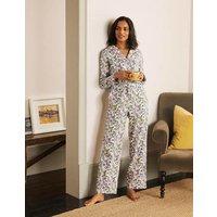 Janie Pyjama Bottoms Ivory, Beautiful Garden Women Boden, Ivory, Beautiful Garden