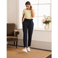 Ludgate Paperbag Trousers Navy Women Boden, Navy