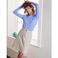 Abingdon Mini Skirt Ivory Women Boden, Beige