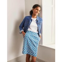 Danby Pull On Mini Skirt Moroccan Blue, Coral Tile Women Boden, Moroccan Blue, Coral Tile