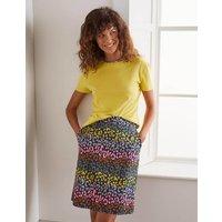 Danby Pull On Mini Skirt French Navy, Rainbow Leopard Women Boden, French Navy, Rainbow Leopard