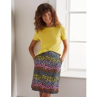Danby Pull On Mini Skirt French Navy, Rainbow Leopard Women Boden, French Navy, Rainbow Leopard