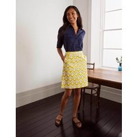 Danby Pull On Mini Skirt Chartreuse, Carnation Stamp Women Boden, Chartreuse, Carnation Stamp