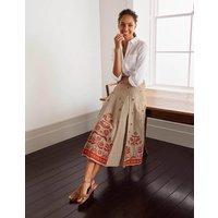 Cora Embroidered Linen Skirt Natural Women Boden, Natural
