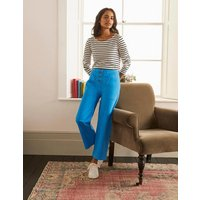 Beaufort Button Fly Trousers Blue Women Boden, Blue
