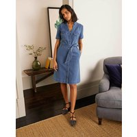 Cecily Shirt Dress Mid Vintage Denim Women Boden, Mid Vintage Denim