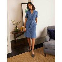Cecily Shirt Dress Mid Vintage Denim Women Boden, Mid Vintage Denim