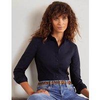 Emily Fitted Shirt Navy Women Boden, Navy