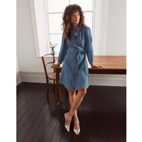 Charlotte Shirt Dress Mid Vintage Denim Women Boden, Mid Vintage Denim