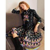 Claudia Midi Shirt Dress Black, Floral Fancy Women Boden, Black, Floral Fancy