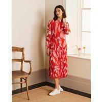 Josephine Midi Dress Cherry Red, Parrot Pop Women Boden, Cherry Red, Parrot Pop