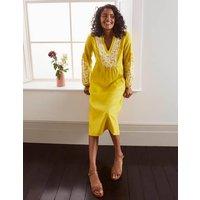 Leonie Linen Dress Yellow Women Boden, Yellow