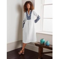 Leonie Linen Dress White Women Boden, White