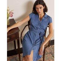 Rowena Shirt Dress Denim Women Boden, Blue