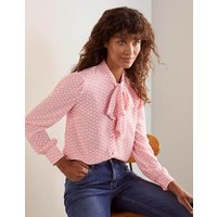 Dora Tie Neck Blouse Azalea, Splash Women Boden, Azalea, Splash