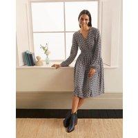 Susannah Smocked Dress Navy, Berry Branch Boden, Navy, Berry Branch
