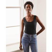 Double Layer Front Vest Black Women Boden, Black