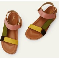 Philomina Sandals Tan Colourblock Women Boden, Tan Colourblock