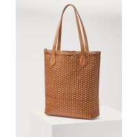 Cleo Woven Leather Tote Tan Women Boden, Tan