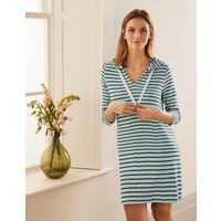 Imelda Hooded Jersey Tunic Surf/ Palm Leaf Women Boden, Surf/ Palm Leaf