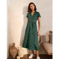 Thomasina Jersey Shirt Dress Palm Leaf, Polka Dot Spaced Women Boden, Palm Leaf, Polka Dot Spaced