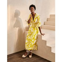 Poppy Jersey Maxi Dress Yellow Women Boden, Yellow