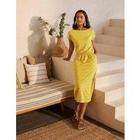 Odile Jersey T-shirt Dress Chartreuse/Ivory Stripe Women Boden, Chartreuse/Ivory Stripe