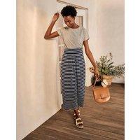 Ruched Waist Skirt Ivory/Navy Stripe Women Boden, Ivory/Navy Stripe