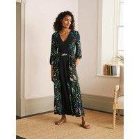 Jodie Jersey Maxi Dress Black, Safari Fern Women Boden, Black, Safari Fern