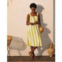 Lucy Jersey Stripe Dress Chartreuse Ivory Stripe Women Boden, Chartreuse Ivory Stripe